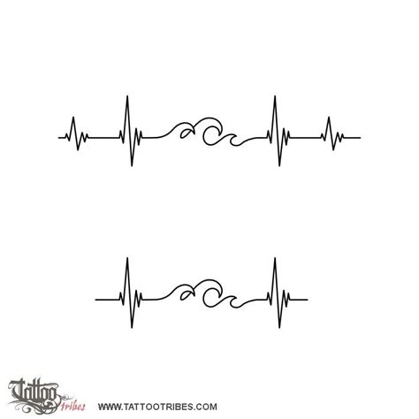 heartbeat wave tattoo 1000 ideas about heartbeat tattoos on tattoos