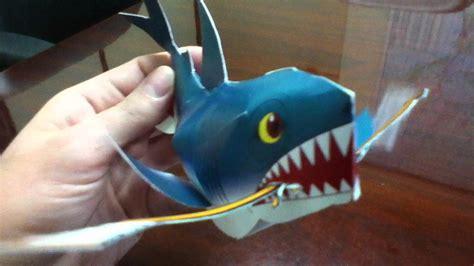 Papercraft Shark - papercraft sharks san jose hockey mascot