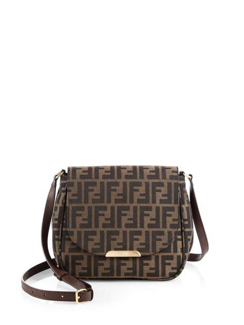 Fendi Bags by Fendi Zucca Forever Shoulder Bag In Brown Lyst