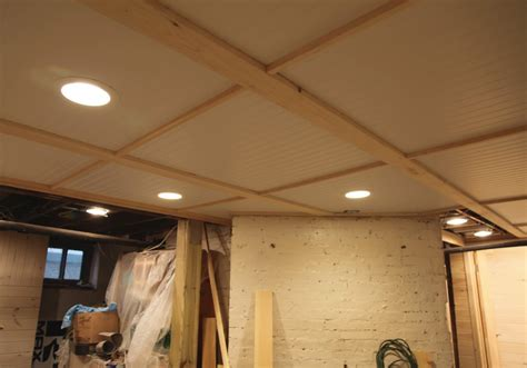 Drop Ceiling Choices Diy Bead Board Ceiling In The Basement D I Y