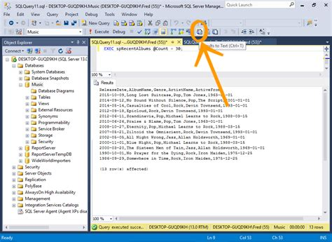sql query exles tutorial sql server 2016 save query results to a csv file