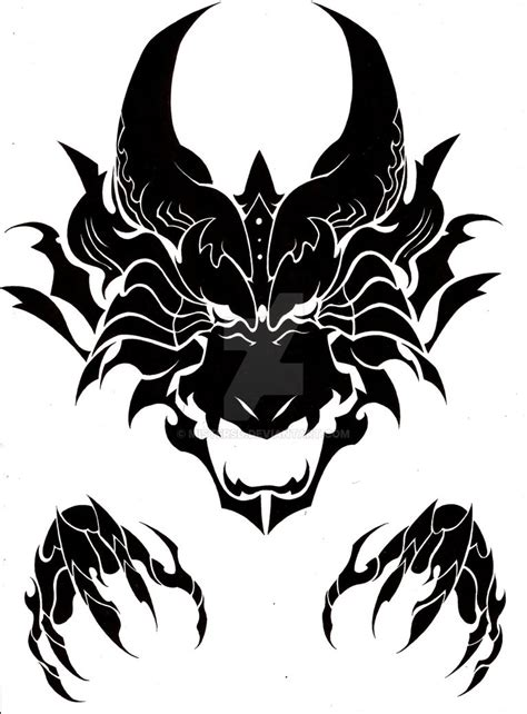 tribal dragon head tattoos tribal drawing www pixshark images