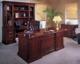 Traditional Office Furniture Exquisite Genuine Wood Detailing
