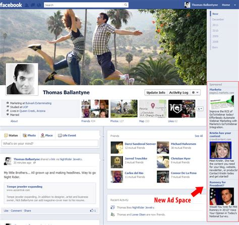 facebook themes change layouts facebook s new layout changes ad space avalaunch media