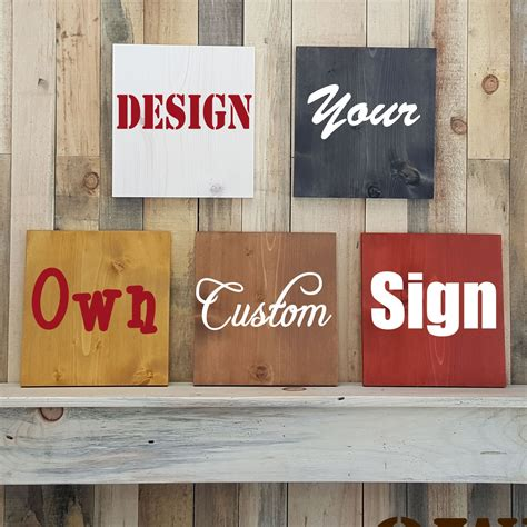 Handcrafted Wooden Signs - design your own sign wooden signs made to order