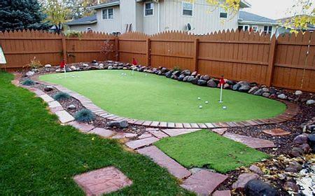 backyard putting green backyard putting green green