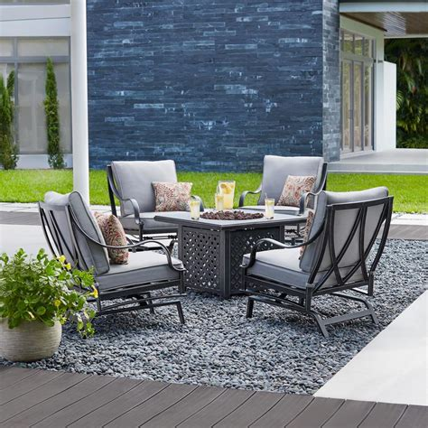 Patio Fire Pit Set Modern Patio Outdoor Patio Furniture Pit Set