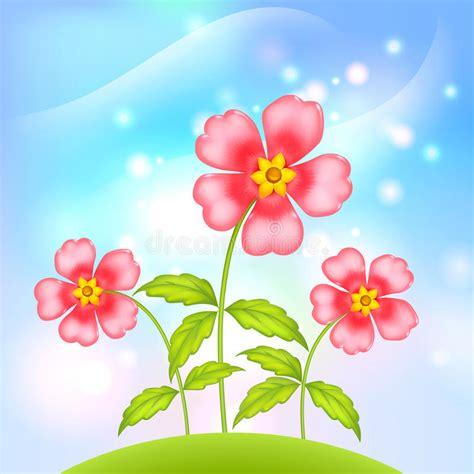fiori fantastici fiori fantastici di plastica di vettore illustrazione
