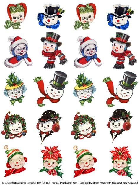 free printable vintage ornaments snowpeople jpg 2 433 215 3 205 pixels craft ideas