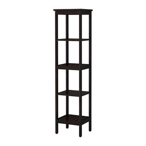Ikea Bathroom Shelves Storage Hemnes Shelf Unit Black Brown Stain Ikea
