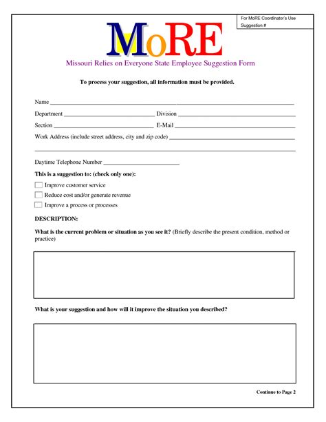 employee suggestion box form template 27 images of employee safety card template leseriail