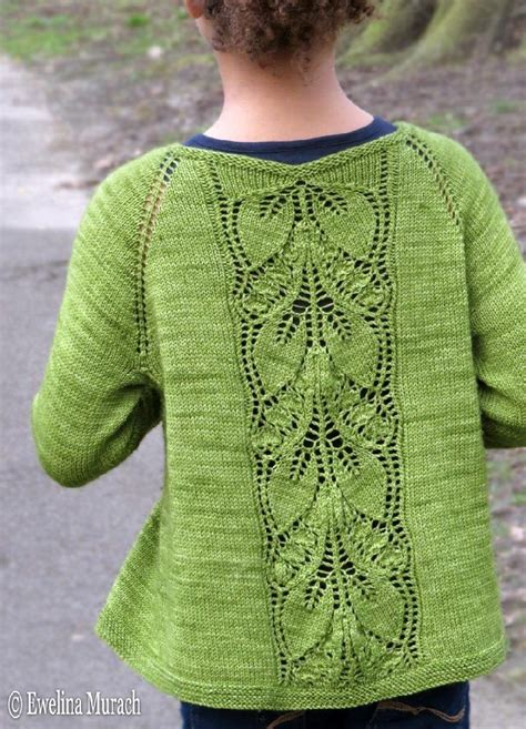 knitting pattern lace jumper leaf lace cardigan kids knitting pattern by ewelina