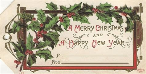victorian xmas  year gift tags  cottage garden
