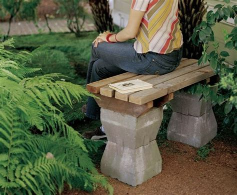 diy garden benches 73 best images about recycling cents ibly cinder blocks on pinterest fire pits