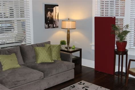 living room acoustic treatment introducing freestand acoustic panel gik acoustics europe