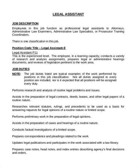 executive administrative assistant description template duties 6 executive assistant description sle