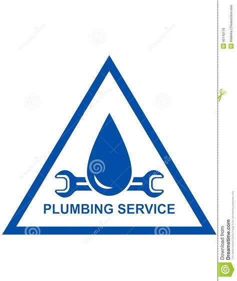 symbol of plumbing service stock vector image 40140119