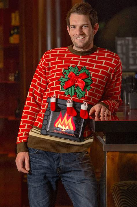 mens light up jumpers home cheesy jumpers