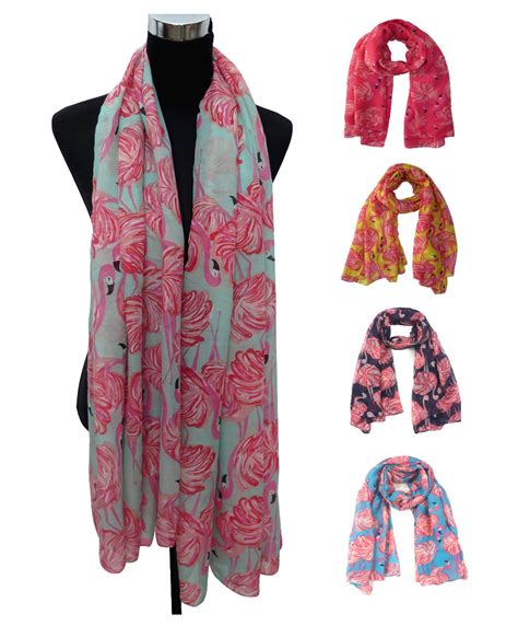 how to gift wrap a scarf aliexpress buy vintage flamingo print s large