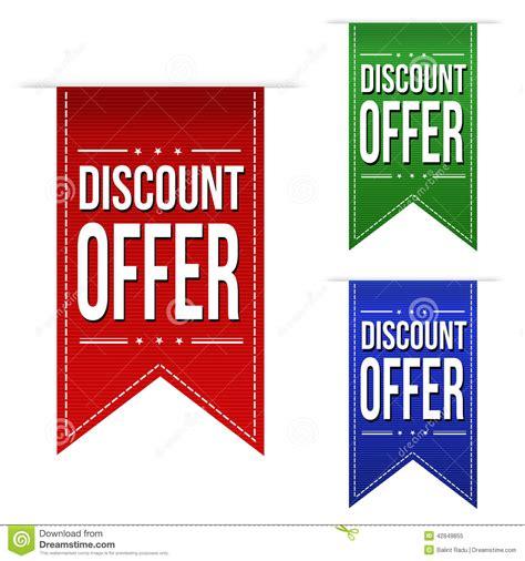 design banner discount discount offer banner design set stock vector