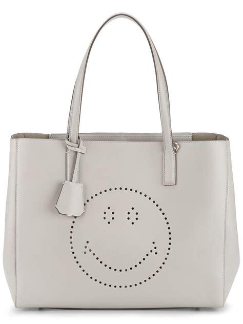 Tote Sneaker Smile anya hindmarch smiley tote bag in gray lyst