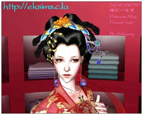 sims 3 princess hair mod the sims eksims new mesh fmhair chinese ancient