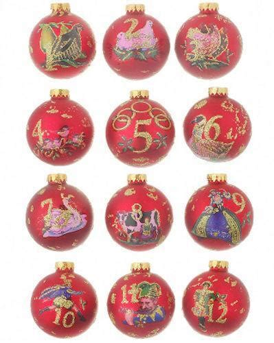 12 days of christmas ornament set ebay