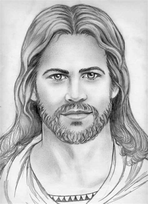 Drawing Jesus by Jesus Drawing Pencil Church Wanted Modern Style Jesus