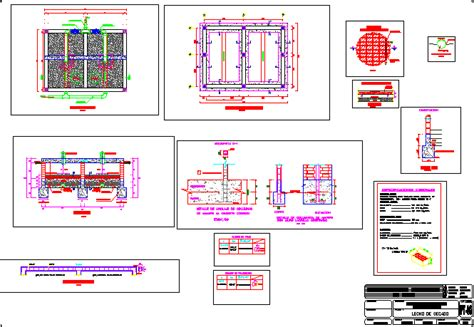 design criteria for sludge drying beds sludge drying and drainage bed dwg block for autocad