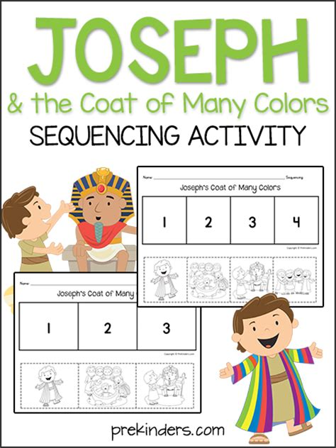 Joseph & the Coat: Sequencing Activity   PreKinders