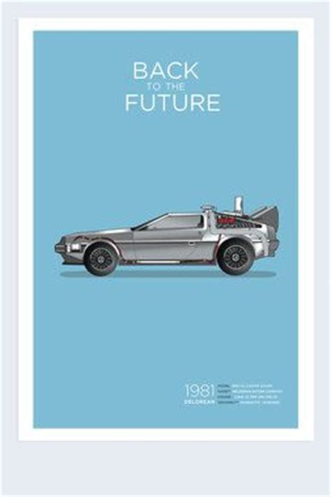 exclusive back to the future delorean poster calm the