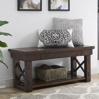 overstock entry bench top product reviews for ameriwood home wildwood wood