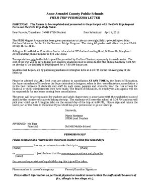 Parents Consent Letter For Field Trip permission letter for school trip from parents forms and