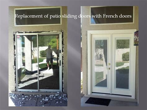 Patio Door Removal Removing Patio Sliding Door And Installing Doors With Mini Blinds The Mini Blinds Are