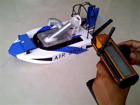 airboat with wings a wing airboat 3ch with reverse propeller youtube