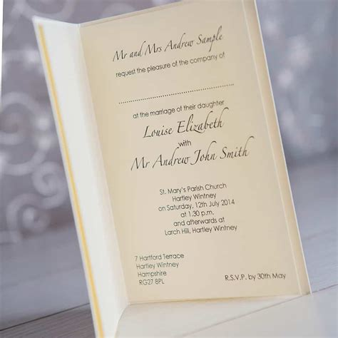 sle of wedding invitation evening wedding invitation wording informal wedding