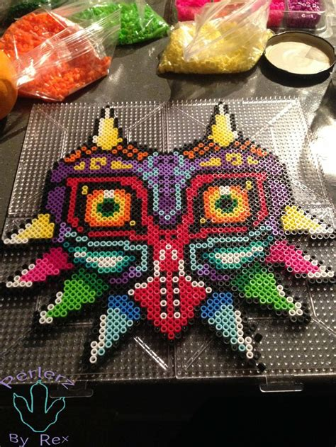how to make a bead mask majora s mask perler by perlerzbyrex on deviantart