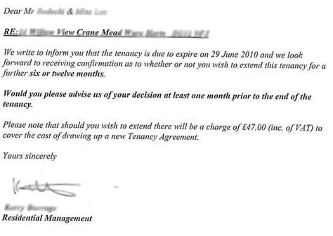 Tenancy Agreement Notice Letter Uk This Is How I Helped My Friend Avoid Paying A Tenancy Renewal Fee