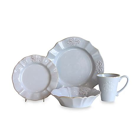 bed bath beyond dishes baum provence 16 piece dinnerware set in blue bed bath beyond