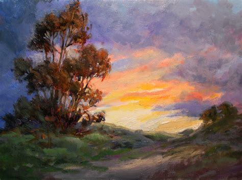 california sunset painting impressionist landscape