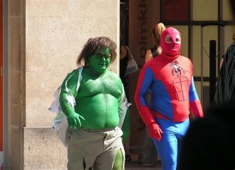 shitty hulk and spiderman shittycosplay