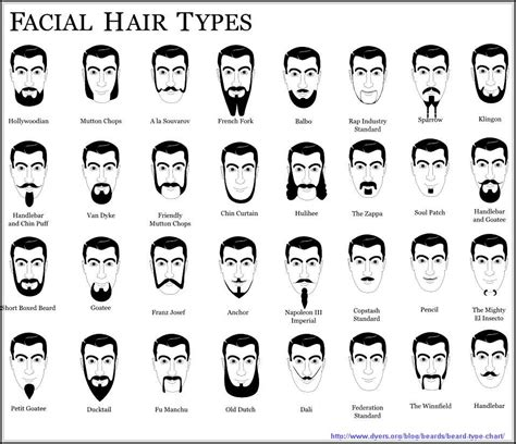 types of hair for types of faces names of facial hair styles you need to know