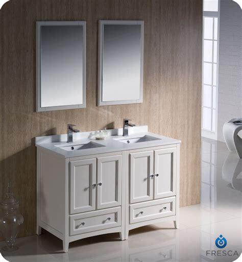 Fresca Oxford 48 Quot Double Sink Bathroom Vanity Antique