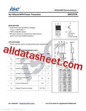 Tas Mikhaila Kr 2316 Sc 2sc2316 データシート pdf inchange semiconductor company limited