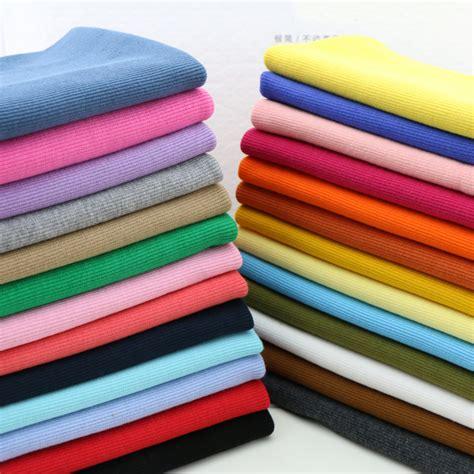 Kanvas Lukis 100cm X 100cm 20cm x 100cm 95 cotton 5 spandex 2cm x 2cm rib elastic knitted fabric diy clothes suit for