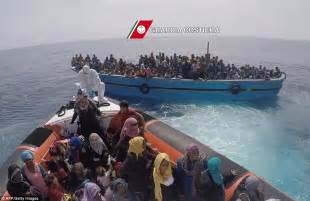 rescue boats mediterranean royal navy rescues migrants from mediterranean death boats