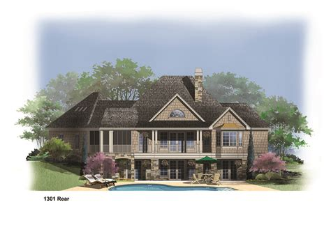 amazing home plans 1301r house plan hillside lake amazing walkout basement