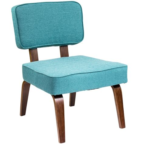 Teal Accent Chair Nunzio Mid Century Modern Accent Chair In Teal Fabric