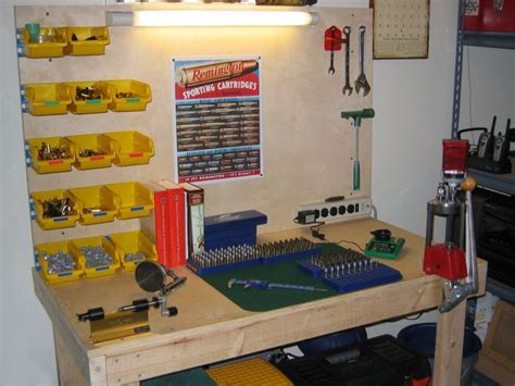 reloading bench photos efficient reloading bench plans reloading pinterest