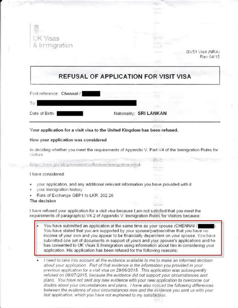 Complaint Letter Sle For Visa Refusal Uk Visit Visa Refused False Allegations In Refusal Letters Travel Stack Exchange